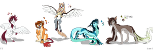 Five Furred Saints by MyLittleSonic