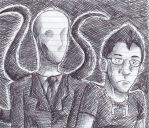 Markiplier And Slenderman by 51Sonic