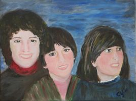 Mother with her daughters by CarolynYM