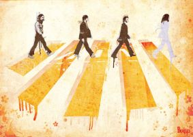 the beatles abbey road texture by redhotjohn21