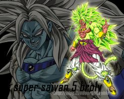 LSSJ5 Broly by Z-Dragon