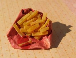 french fries push pin by MotherMayIjewelry