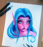 Tyrande Whisperwind Pencil drawing by AtomiccircuS