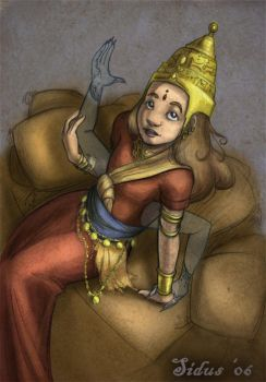 Child Goddess Asheth by Sidus-U