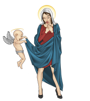 Virgin Mary by Georgel-McAwesome