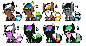 another 2 point kitty batch! CLOSED by AmazingAdoptablez