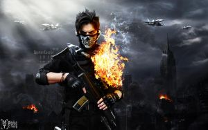 call of duty wallpaper ghost by stylish psycho by Stylish-psycho-group