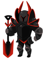 The Black Knight by KyzaCreations