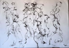 Figure Drawing with Ink 2 by Explonova
