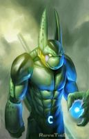 If Cell Swallowed a Ninja Turtle by SketchMonster1