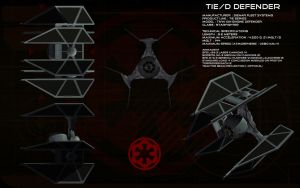 TIE/D Defender ortho by unusualsuspex
