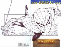 New Avengers Spider-Man inked by wrathofkhan