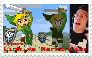 Markiplier Minecraft Link Attack Stamp by SteffieNeko