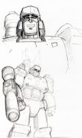 Megatron sketches by PiusInk
