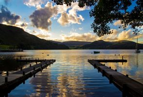 Piers Across Ullswater by CumbriaCam