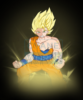 Commission Goku - for Elusive Creation by Cyane-ei