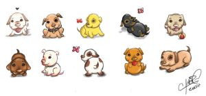Puppies by chikaex0tica