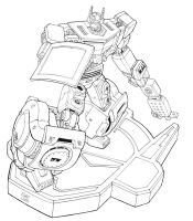 Boombox lineart by Johnny216