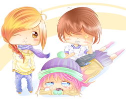 Chibi family by SweetLollypop