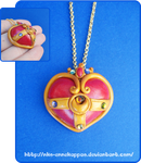 Sailor Moon Cosmic Heart pendant by Nko-ennekappao