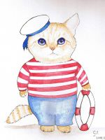Sailor Cat by Binnus