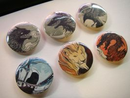 Ink and watercolor badges by sandara