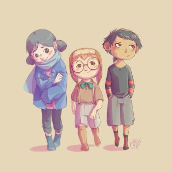 Poppy, Roland and Liren by Chely103