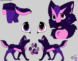Purple-Pink Wolf by Balance-Song