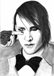Marylin Manson pencil drawing by DeadlyAngel-Drawings
