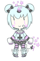 Pastel Goth Bubble Demon (Closed) by Rusty-Adopts
