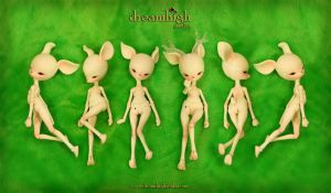 OSSIA the deer 14 cm BJD by DreamHighStudio