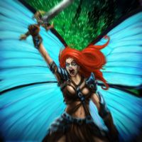 Fairy warrior by DanielClasquin
