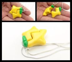 Paopu Fruit Friendship Necklace by WTFcharms