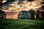 Old rusty van at Ozora by scwl