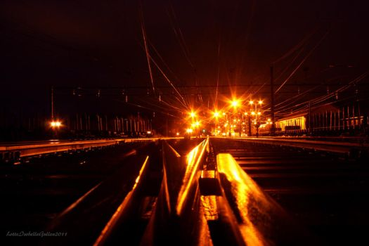 On the railroad tracks by deadvittra