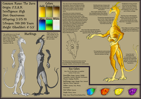 The Davu: Species Sheet WIP by JadeRavenwing