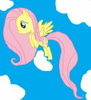 Fluttershy in the sky by dragonpony