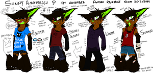 .Sunny Anthro Reference Sheet 2013/1014. by cho-click