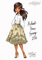 Michael Kors Fashion Drawing by angelaaasketches