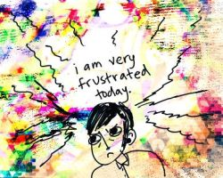 i am very frustrated today. by boobookittyfuck