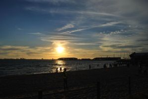 Port Melbourne Beach Sunset. by MrJuzz1992