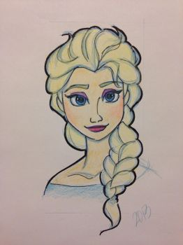 Elsa colored by GilmoreFriends
