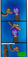 Kaa Eats Raven by jerrydestrtoyer