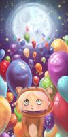 With Baloons by Mallaria