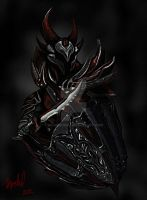 Daedric Armor - Close Up by ricanboom