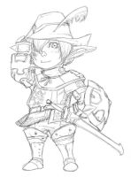 Taroh Waroh as a red mage by Xenogia