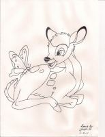 Bambi Uncolored by Joevo94