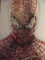 The amazing Spider-Man biro drawing by callumford