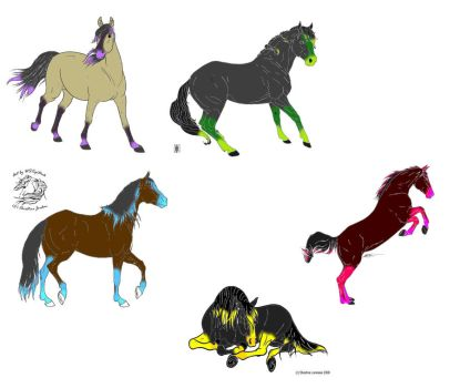 Neon Horse Breedables by Bluff2000
