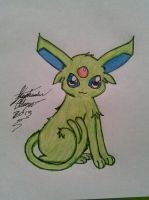 Shiny Espeon Drawing by Miku-chan9